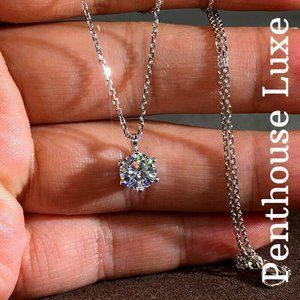 💎 RESTOCKED! Sterling Diamond Solitaire Necklace